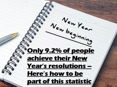 Only 9.2% of people achieve their New Year's resolutions – Here's how to be part of this statistic